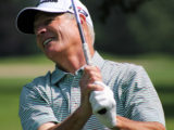 """Lee Houtteman of Manitou Passage in Cedar indicated he didn't want to say his best years are behind him. """"But they probably are,"""" said the 57-year-old teaching professional after he made a 12-foot birdie putt on the first sudden-death playoff hole to top Scott Hebert of Traverse City Golf & Country Club a"""