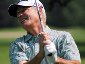 "Lee Houtteman of Manitou Passage in Cedar indicated he didn't want to say his best years are behind him. ""But they probably are,"" said the 57-year-old teaching professional after he made a 12-foot birdie putt on the first sudden-death playoff hole to top Scott Hebert of Traverse City Golf & Country Club a"